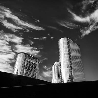 Business Photograph - Silver Towers by Dave Bowman