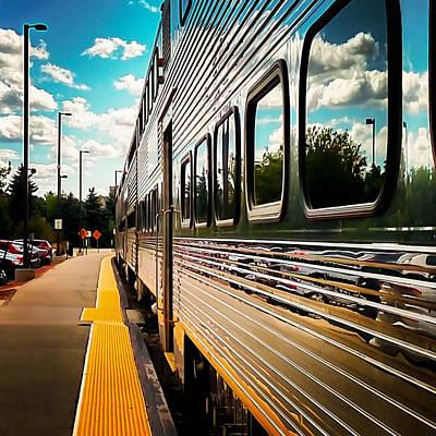 Silver Train Art Print by Britten Adams