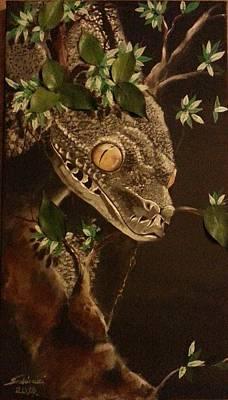Silver Tree Python Art Print