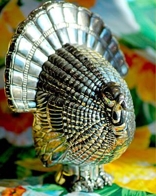 Pepper Photograph - Silver Turkey Left by LeeAnn McLaneGoetz McLaneGoetzStudioLLCcom