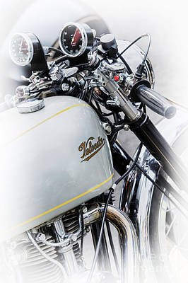 Photograph - Silver Velocette by Tim Gainey