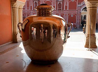 Silver Water Urn Jaipur Art Print