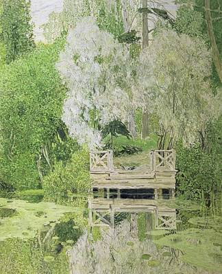 Park Scene Painting - Silver White Willow by Aleksandr Jakovlevic Golovin