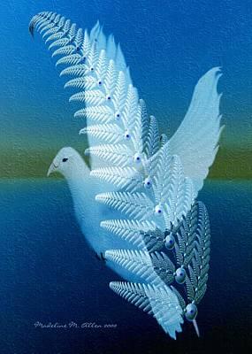 Aves Digital Art - Silver-wing by Madeline  Allen - SmudgeArt