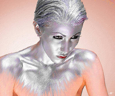 Painting - Silver Woman 1 by Tony Rubino
