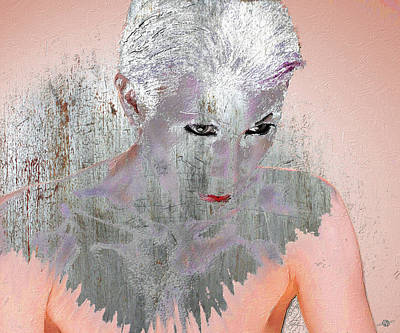 Mixed Media - Silver Woman 10 by Tony Rubino