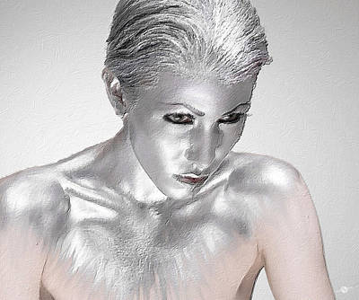 Painting - Silver Woman 2 by Tony Rubino