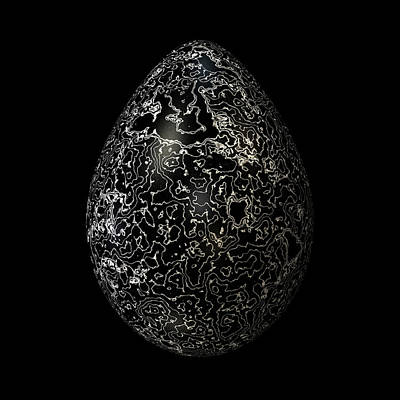 Silvered Black Egg Art Print