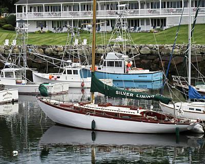Silverlining Sail Boat Art Print