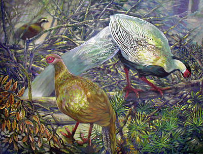 Painting - Silvers In Brush by Elaine Hines