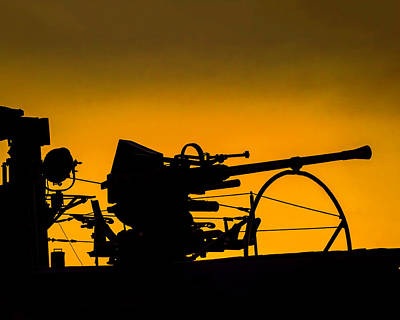 Photograph - Silversides Deck Gun by Nick Zelinsky