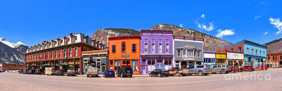 Photograph - Silverton Co Greene Street Panorama by Adam Jewell