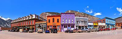 Photograph - Silverton Co Greene Street Panorama by Adam Jewell