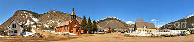 Photograph - Silverton Co St Patrick Church Panorama by Adam Jewell