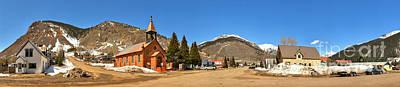 Southern Colorado Photograph - Silverton Co St Patrick Church Panorama by Adam Jewell