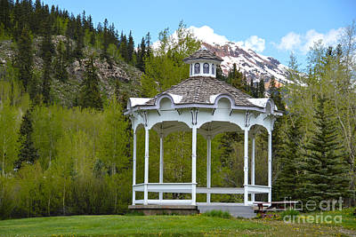 Photograph - Silverton Colorado Gazebo by Catherine Sherman