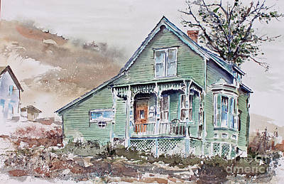 Charming Town Painting - Silverton Colorado by Monte Toon