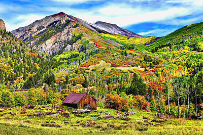 Pyrography - Silverton Fall Colors Colorado by James Steele