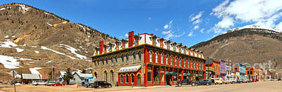 Photograph - Silverton Grand Imperial Hotel Panorama by Adam Jewell