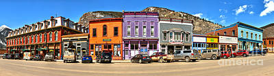 Photograph - Silverton Main Street Panorama by Adam Jewell