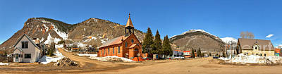 Photograph - Silverton St Patrick Historic Church Panorama by Adam Jewell