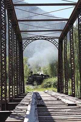 Silverton Train Framed By Bridge Original