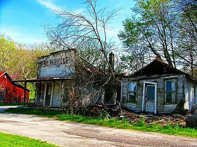 Photograph - Silverville Ghost Town In Blues by Julie Dant