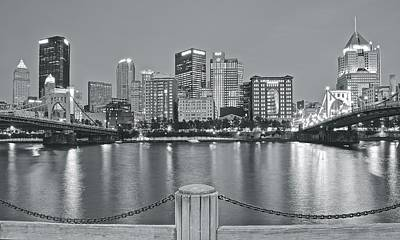Photograph - Silvery Lights In Pittsburgh by Frozen in Time Fine Art Photography