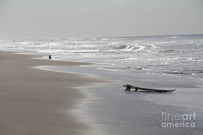 Photograph - Silvery Morning Huntington Beach by Linda Queally