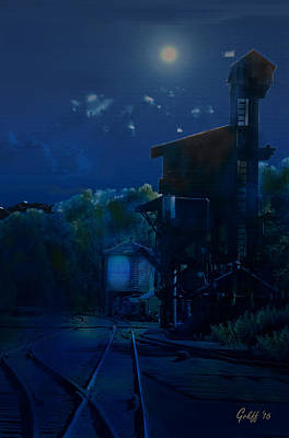 Digital Art - Silvery Night In Chama by J Griff Griffin