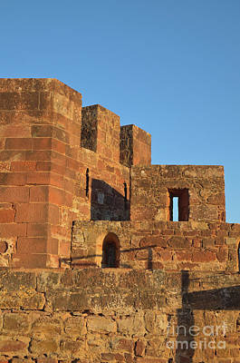 Ruins Photograph - Silves Castle Towers At Sunset by Angelo DeVal