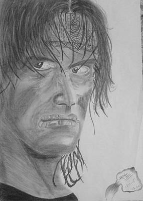 Stallone Drawing - Silvester Stallone by Zaryab Hassan