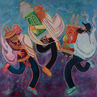 Painting - Simchat Torah 2 by Chana Helen Rosenberg