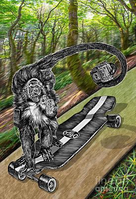 Simeon Skateboard Selfie Original