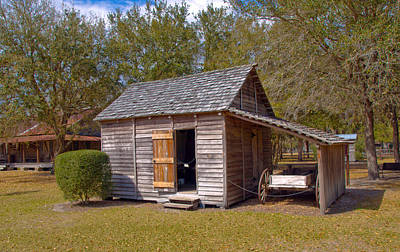 Simmons Cabin Built In 1873 In Orange County Florida Art Print by Allan  Hughes