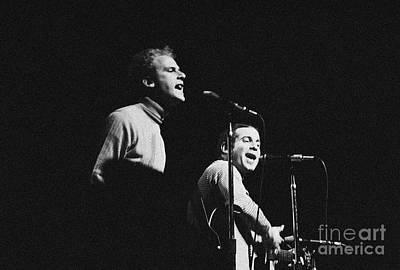 Simon And Garfunkel At Monterey Pop Festival Art Print