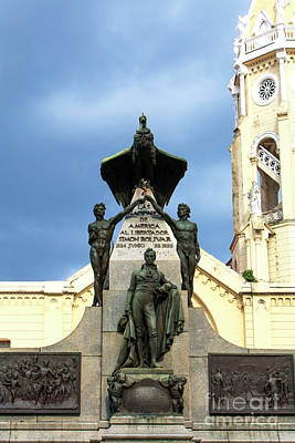 Photograph - Simon Bolivar Monument  by John Rizzuto