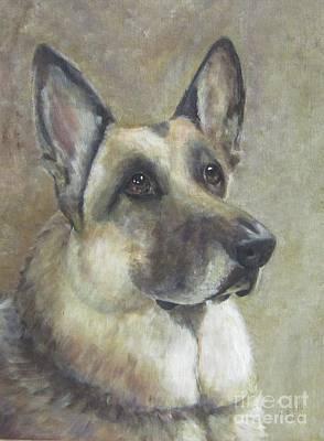 Police Dog Painting - Simon by Elizabeth Ellis