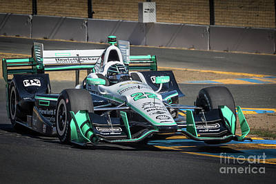 Indycar Photograph - Simon Pagenaud by Webb Canepa