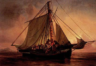 Simonsen Niels Arab Pirate Attack Art Print by Niels Simonsen