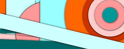 Colorful Abstract Digital Art - Simple Abstract 153 by Chris Butler