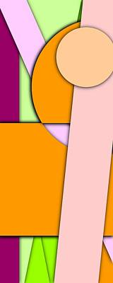 Colorful Digital Art - Simple Abstract 331 by Chris Butler