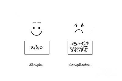 Simple, Complicated. Art Print