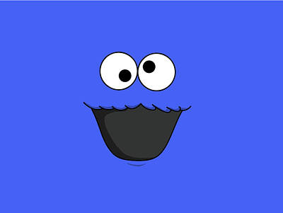 Cooky Digital Art - Simple Cooky Monster                    by F S