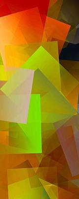 Colors Digital Art - Simple Cubism 19 by Chris Butler