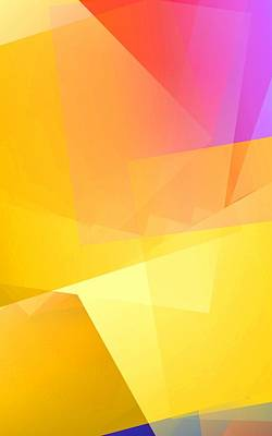 Colorful Abstract Digital Art - Simple Cubism 4 by Chris Butler