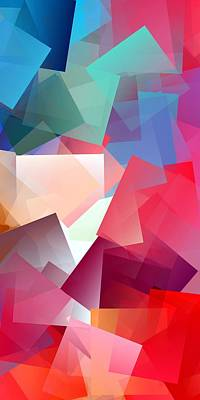 Color Digital Art - Simple Cubism Abstract 157 by Chris Butler