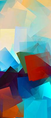 Shape Digital Art - Simple Cubism Abstract 51 by Chris Butler