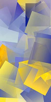 Color Digital Art - Simple Cubism Abstract 86 by Chris Butler