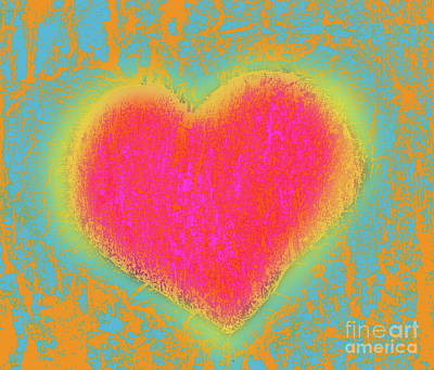 Digital Art - Simple Digi Heart by Expressionistart studio Priscilla Batzell
